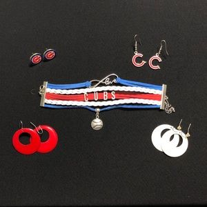 Chicago Cubs ⚾️ Bracelet ⚾️ Earrings